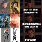 Oh, so your talking about female characters?