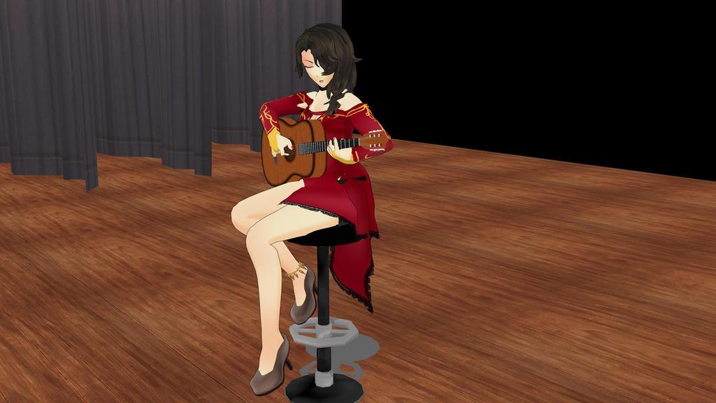 Cinder Playing Guitar By Spideyk On Deviantart