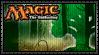 Magic - Green Mana Stamp by reggiewolfpro