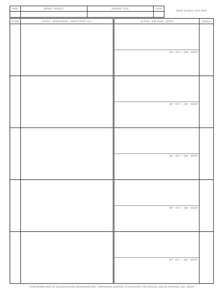 Free Storyboard Template By Reggiewolfpro ... Awesome Design