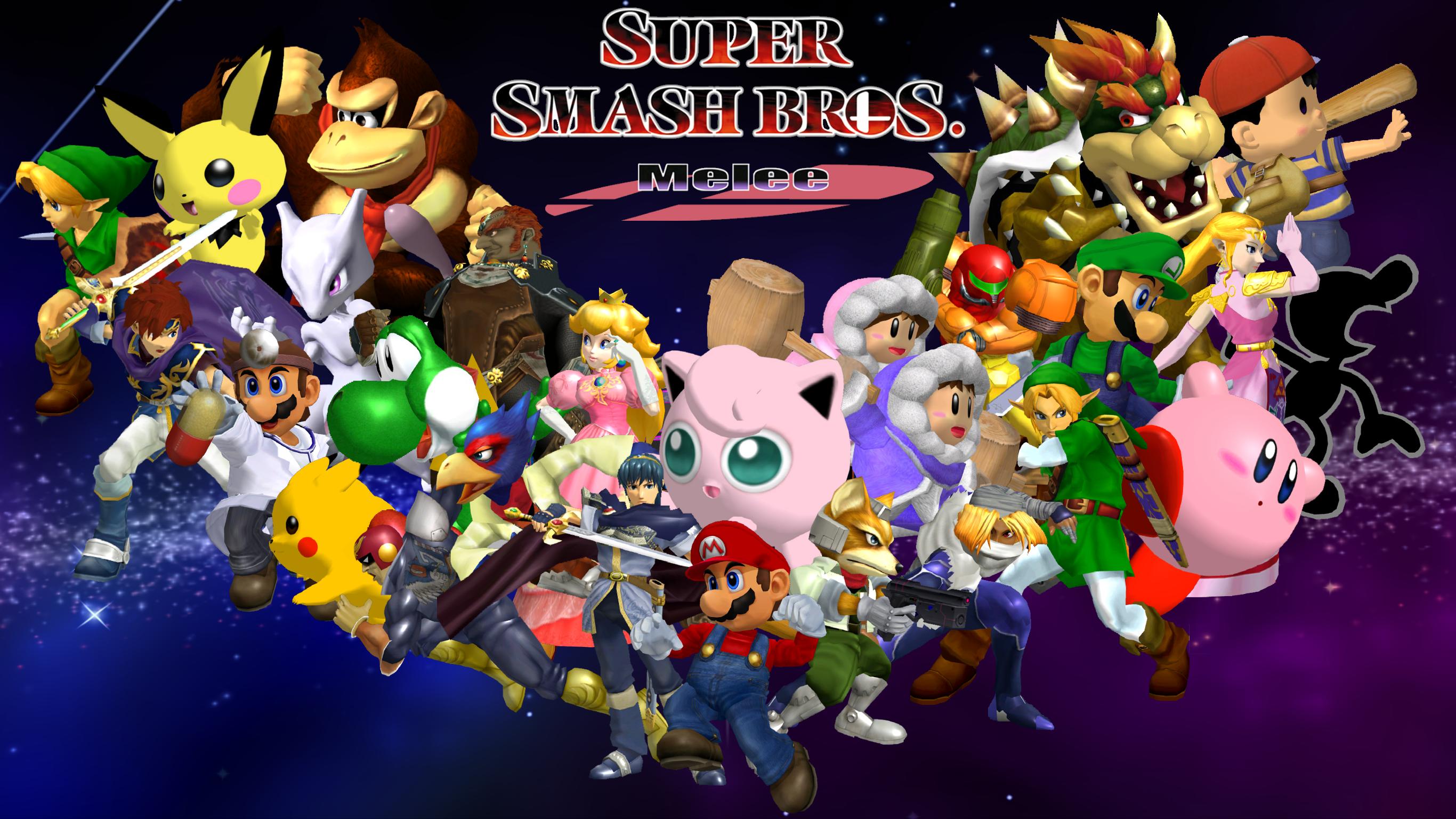super smash bros melee wallpaper by game34rules on deviantart