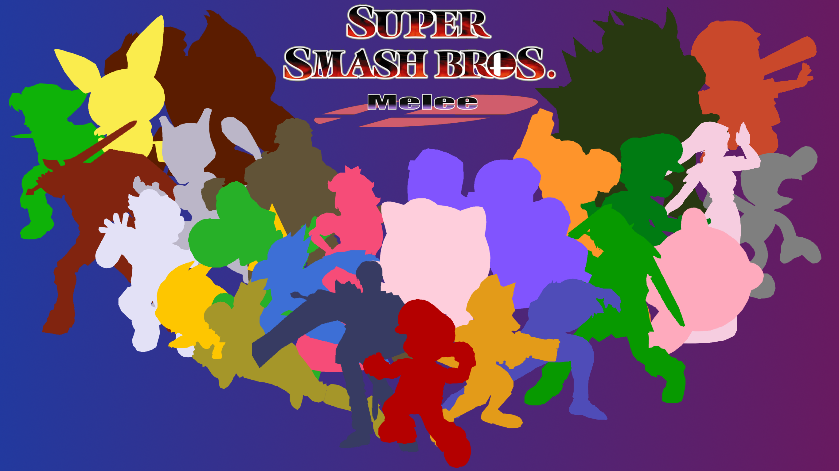 super smash bros melee wallpaper stylized by game34rules
