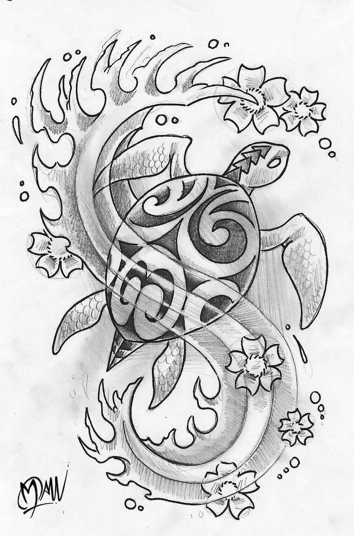 Polynesian turtle by ManuManuTattoo
