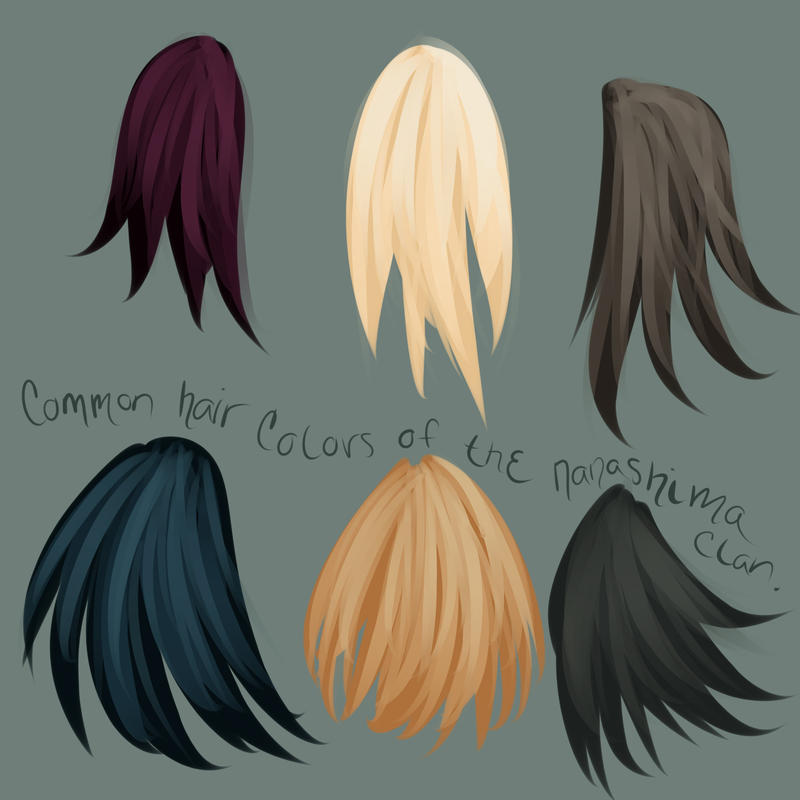 Common Hair Colors Of The Nanashima By Bunnanasa On Deviantart