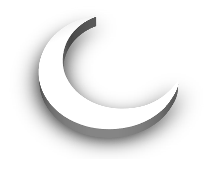 White 3d Crescent Moon Transparent Shadow By Missamazingly