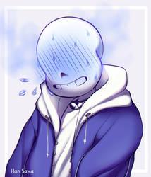 Blushing soft sans by Han--sama