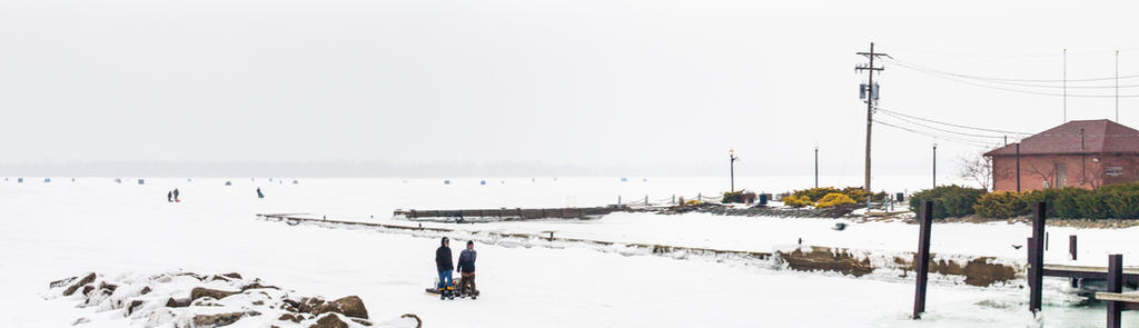 Ice Fishing on Lake Erie by 4everN3rdy