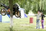 One Suspended Motorbike