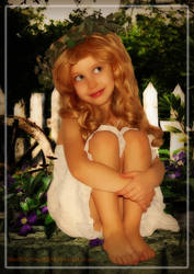 little girl by blackthornart