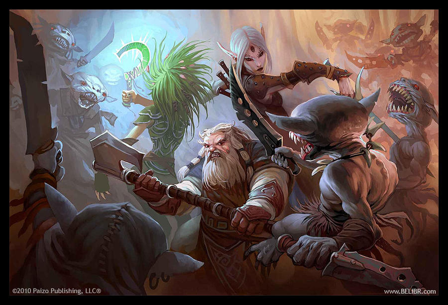 Goblin ambush by Belibr