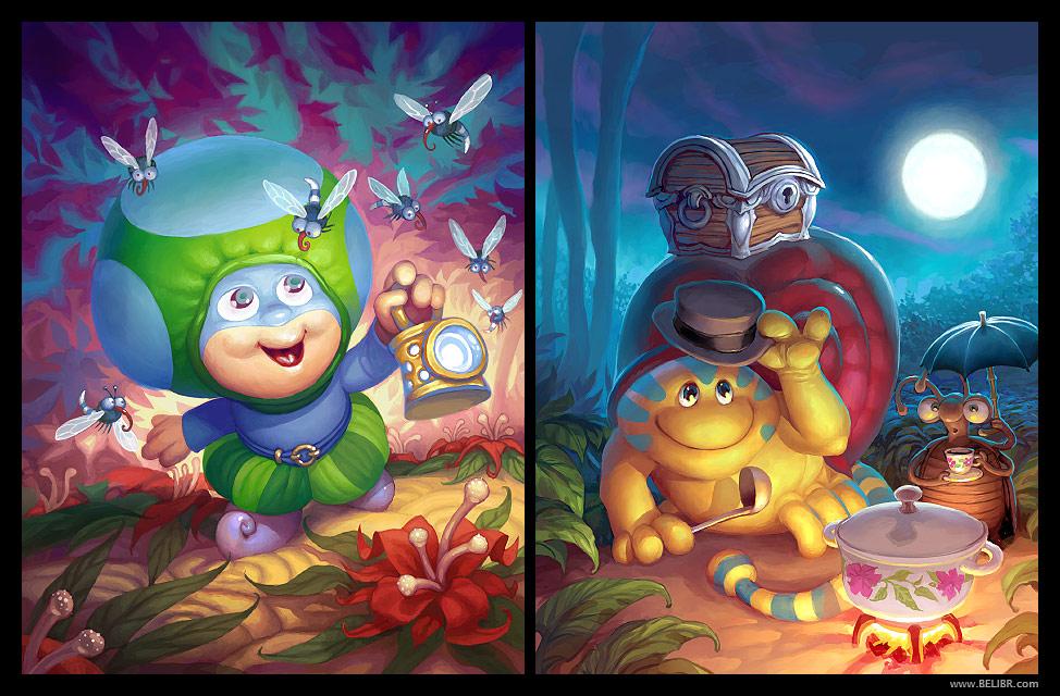 Mushroom tribe by Belibr