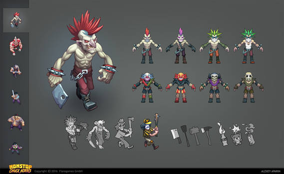 Evil guy for a mobile game - Character concept