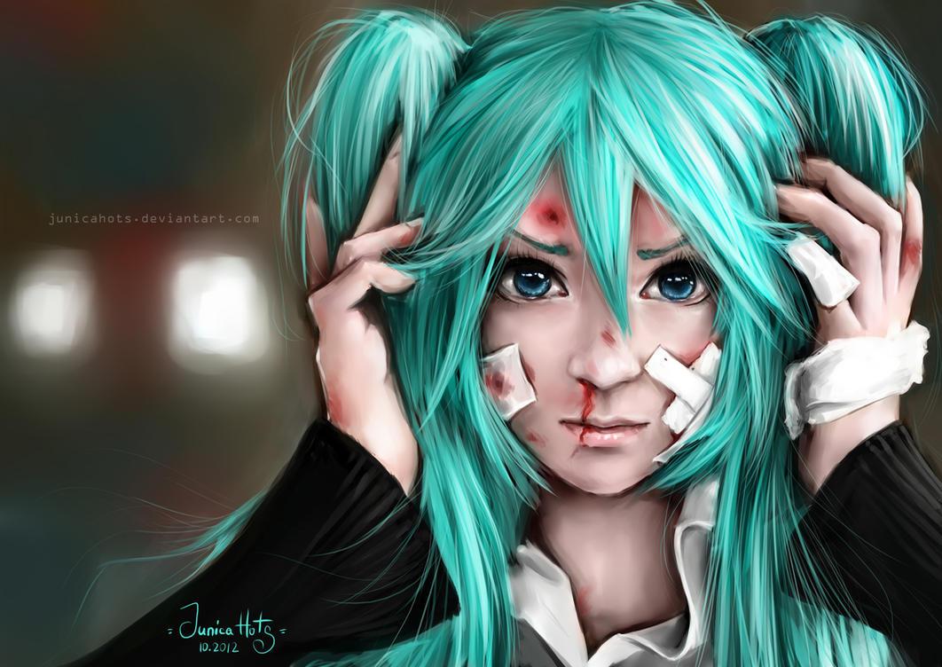 Vocaloid Miku (Rolling girl ver.) by Junica-Hots