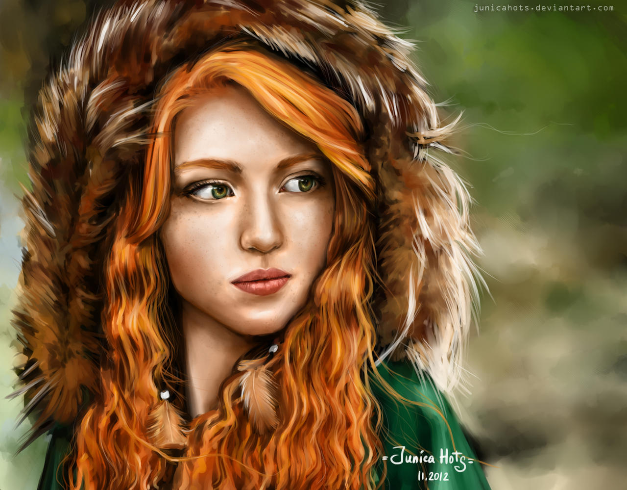 Redhead Girl By Junica Hots On Deviantart