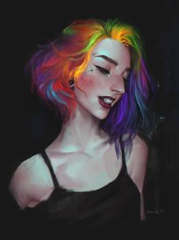 Rainbow portrait