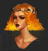 Yellow Head by Junica-Hots