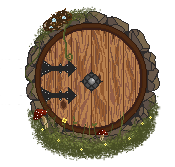 Hobbit Hole Door by gutterface