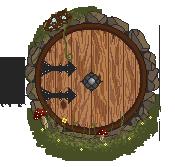 Hobbit Hole Door by gutterface