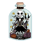 Nightmare Before Christmas Jack in a Bottle by gutterface