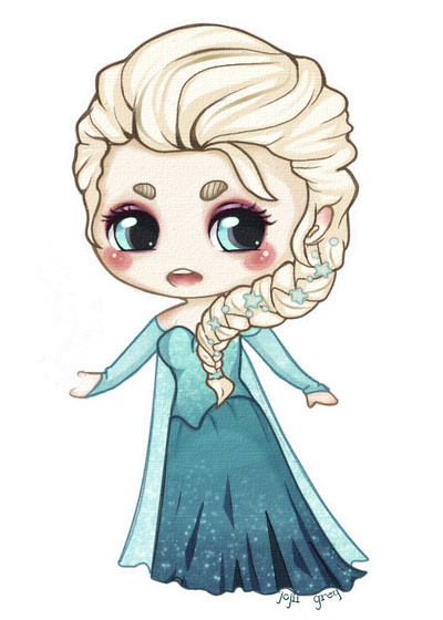 Elsa the Snow Queen Chibi by gutterface