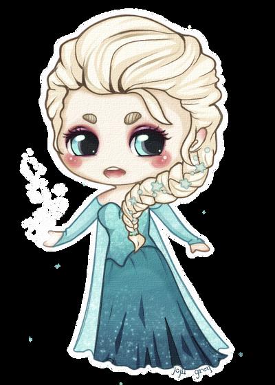 Elsa the Snow Queen Chibi by gutterface