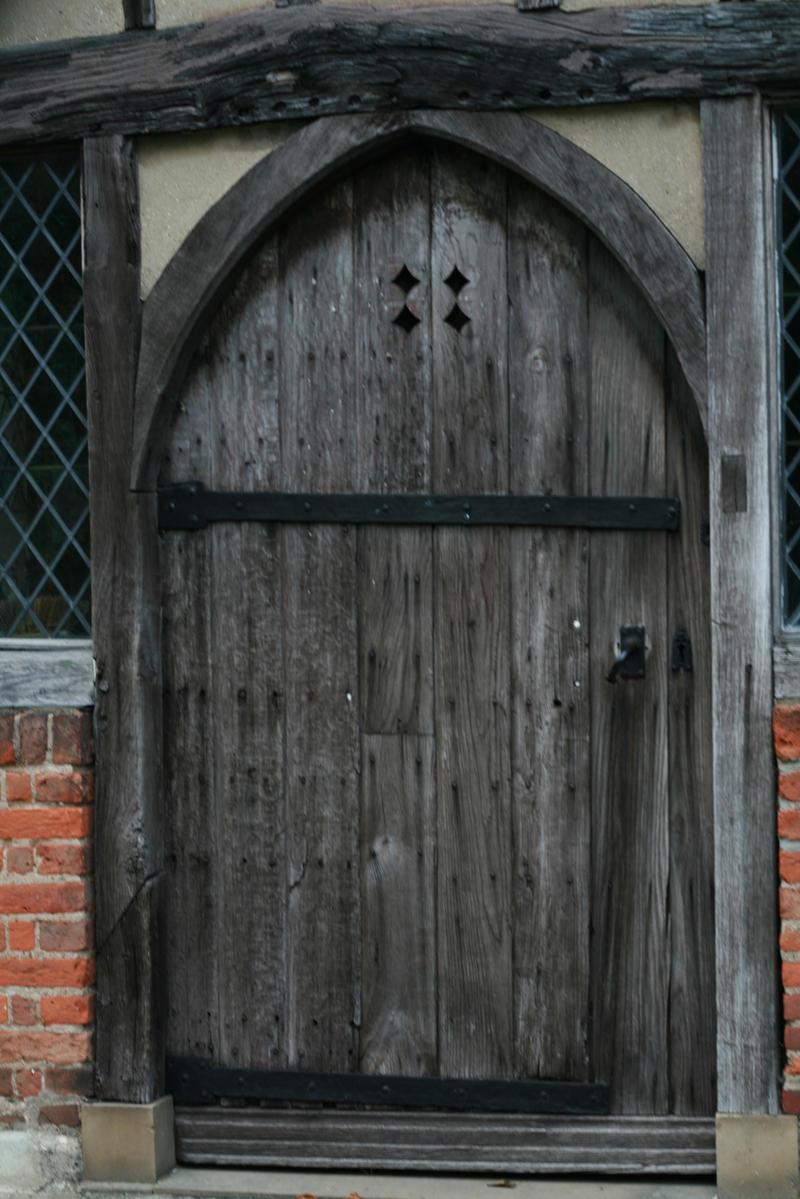 Stock wooden door