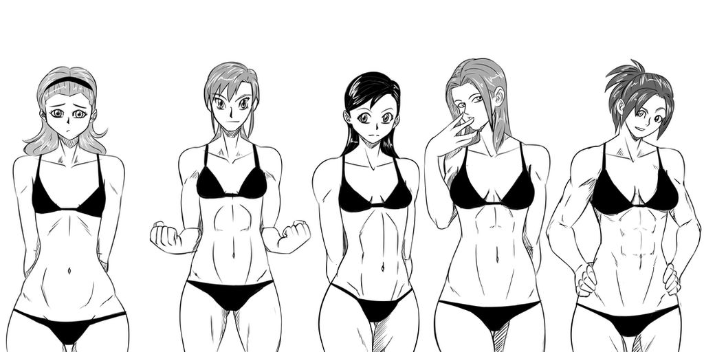 Girls With Abs By Himuraq On Deviantart