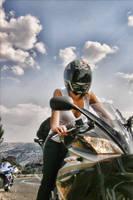 Biker girl by OrionWeb