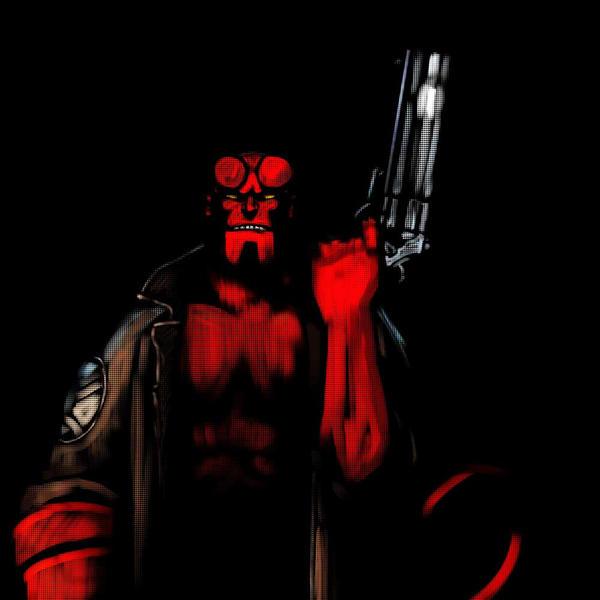 Hellboy pastels