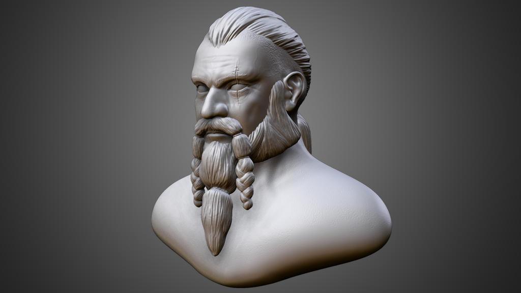 Viking warrior - Zbrush by BatzStudio
