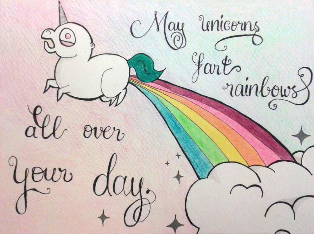 Rainbow Farting Unicorn By MonaPamela On DeviantArt