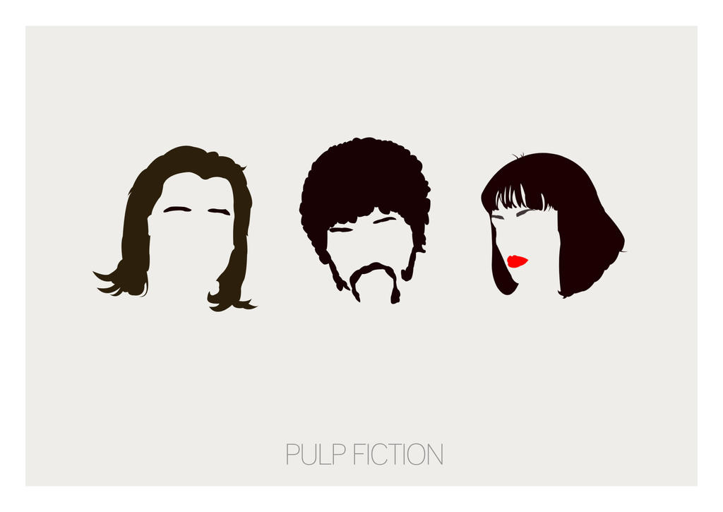 Pulp Fiction Minimal Poster Art By Posteritty