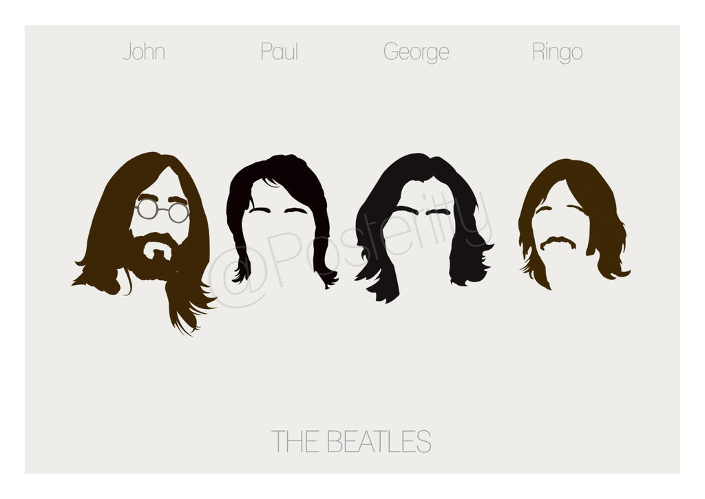 Beatles Minimal Poster Art By Posteritty