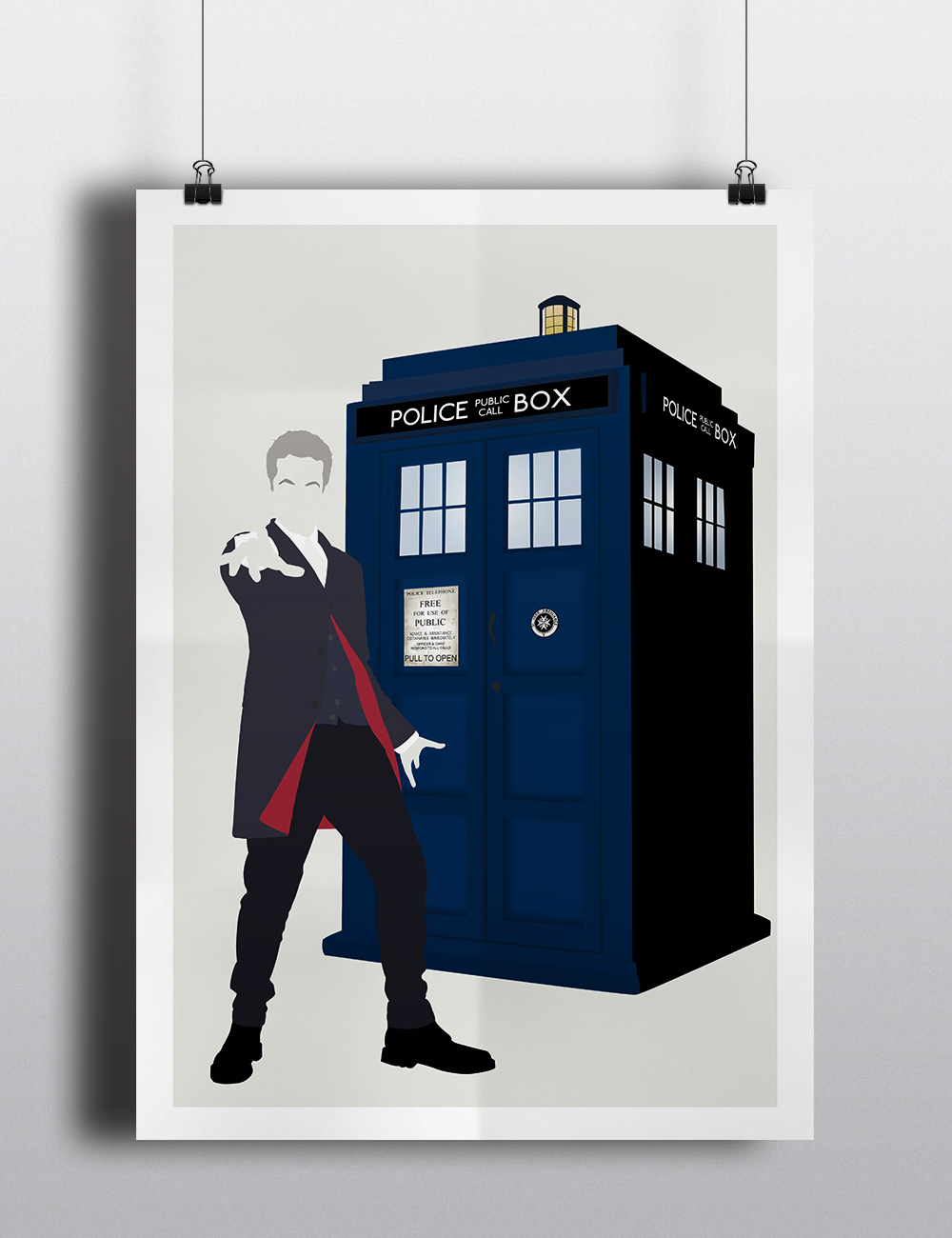 Peter capaldi doctor who poster