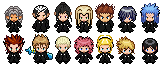 Organization XIII Pokemon Sprites by S-Laughtur