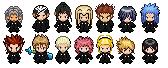 Organization XIII Pokemon Sprites by S-Laughtur