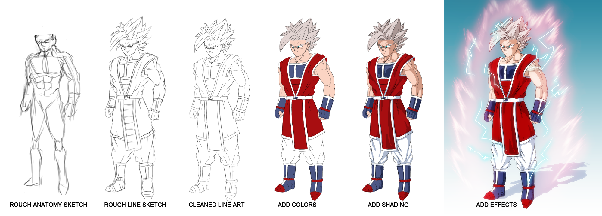 Dbz Character Drawing Process By Domino99designs Dbz Character Drawing  Process By Domino99designs