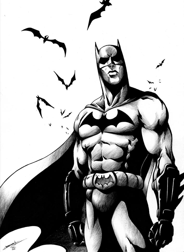 Batman Black And White By Hydriss28 On DeviantArt