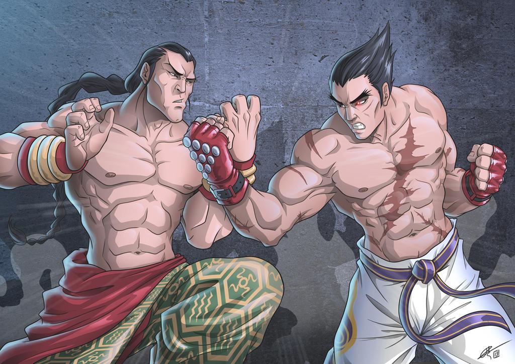 Tekken Kazuya Mishima vs Feng Wei by hydriss28