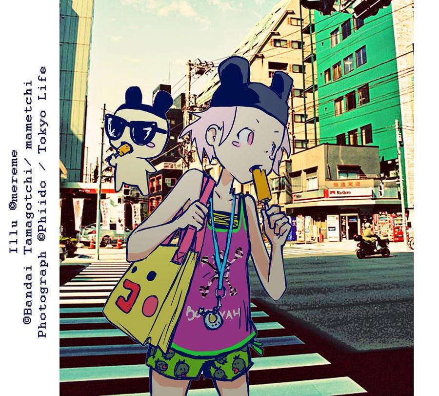 Tokyo street by mereme