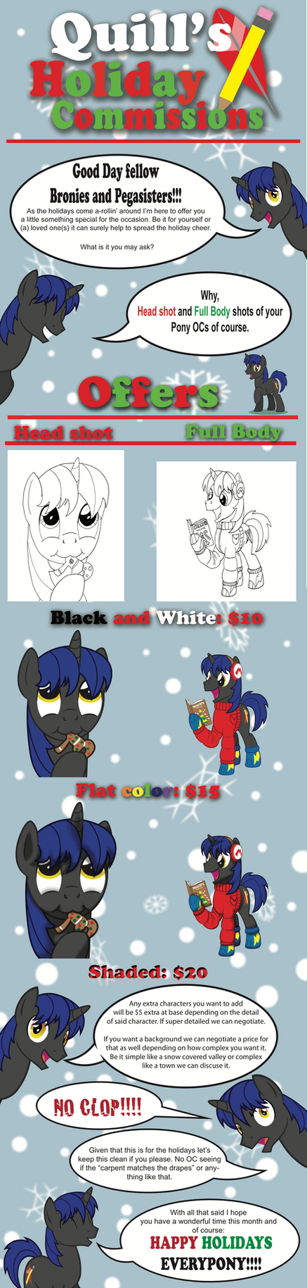 Holiday commissions by marioking89