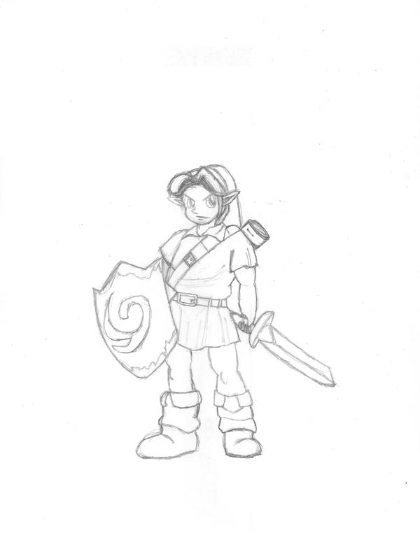OOT Young Link Sketch By LusoClemins