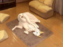 Syrune the furred dragon by KodarDragon