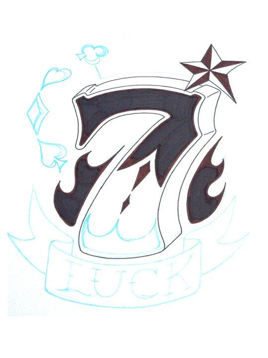 Lucky 7 tattoo by tinnoka on deviantart for Lucky seven tattoo