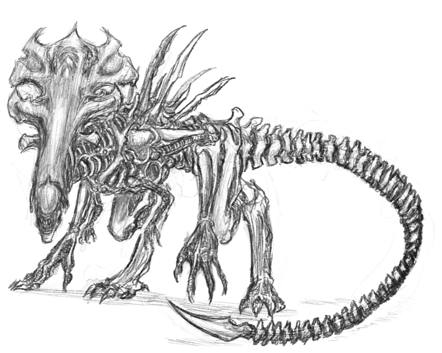 Colonial times (slow paced future nation rp) Xenomorph Egg Diagram Godzilla 1998 Coloring Pages Xenomorph Queen Drawing