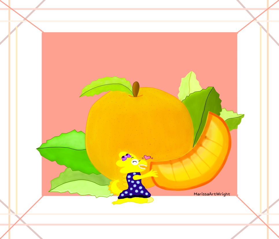 Alphys and the Giant Peach by MarissaArt