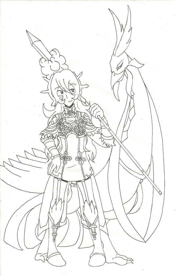 Golden Kite Warrior!Amatarasu in Fates by Katfreak