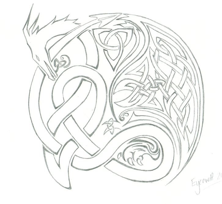 f69bba653 Celtic Dragon Tattoo by Eycewolf on DeviantArt