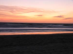 Milky sunset