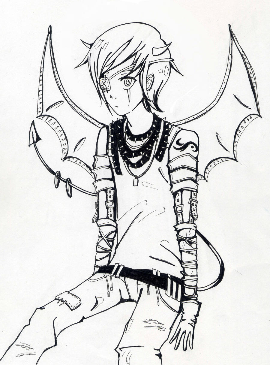 Anime Boy Assassin Coloring Pages